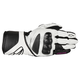 Womens Black/White Stells SP-8 LEather Gloves