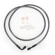 Black Pearl Designer Series 180 Degree Top Angle Custom Single-Disc Front Brake Line - 46460SW