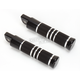 Black Anodized Knurled Grooved Folding Footpegs - RP111-KGN