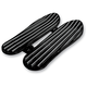 Gloss Black Finned Floorboards - C1335-B