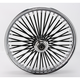 Black 21 x 2.15 Fat Daddy 50-Spoke Radially Laced Wheel for Single Disc - 0203-0352