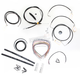 Black Vinyl Handlebar Cable and Brake Line Kit for Use w/15 in. - 17 in. Ape Hangers - LA-8051KT2-16B