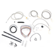 Stainless Braided Handlebar Cable and Brake Line Kit for Use w/12 in. - 14 in. Ape Hangers - LA-8050KT2-13