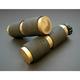 Brass Rubber Inlay Grips - GR100-R5