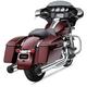 Chrome 4.5 in. Powr-Flo Slip-Ons Mufflers w/Satin Black Race-Pro Tip - 6265