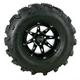 Rear Left Gloss Black 387X Tire/Wheel Kit - 0331-1175