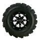 Rear Right Gloss Black 387X Tire/Wheel Kit - 0331-1176