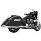 Chrome True Duals Racing Exhaust System - MV00016
