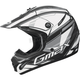 Youth Matte Black/White/Silver GM46.2 Traxxion Helmet