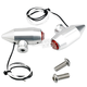 Clear Anodized Silver Vega LED Side Rail Turn Signals w/ Red Lens - 05-57-RS