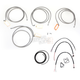 Stainless Braided Handlebar Cable and Brake Line Kit for Use w/Mini Ape Hangers (W/ABS) - LA-8052KT2-08