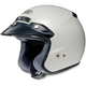RJ Platinum Metallic Silky White Helmet