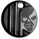 Gloss Black Machine Head Fuel Door Cover - C1129-B