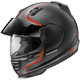 Matte Black/Silver/Red Defiant Pro-Cruise Bold Helmet