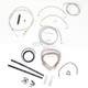 Stainless Braided Handlebar Cable and Brake Line Kit for Use w/12 in. - 14 in. Ape Hangers - LA-8051KT2-13