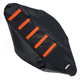 Black/Orange Ribbed Seat Cover - 0821-1792