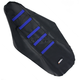 Black/Blue Ribbed Seat Cover - 0821-1811