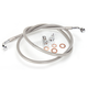 Stainless Braided Brake Line for Use w/18 in. to 20 in. Ape Hangers w/o ABS - LA-8100B19
