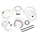 Stainless Braided Handlebar Cable and Brake Line Kit for Use w/15 in. - 17 in. Ape Hangers - LA-8005KT2A-16