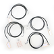 Black Vinyl Coated Stainless Steel Cable and Brake Line Kit For Use with 15-17 Inch Ape Hangers w/ABS - LA-8052KT-16B