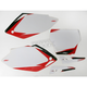 Pre-Cut White Graphic Number Plate Kit - 12-64336