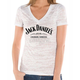 Womens white Arch Burnout T-Shirt