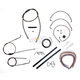 Midnight Stainless Handlebar Cable and Brake Line Kit for Use w/12 in. to 14 in. Ape Hangers (w/o ABS) - LA-8005KT2A-13M