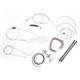 Stainless Braided Handlebar Cable and Brake Line Kit for Use w/18 in. - 20 in. Ape Hangers (w/o ABS) - LA-8006KT2B-19