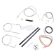 Stainless Braided Handlebar Cable and Brake Line Kit for Use w/15 in. - 17 in. Ape Hangers - LA-8110KT2A-16