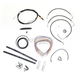 Black Vinyl Handlebar Cable and Brake Line Kit for Use w/15 in. - 17 in. Ape Hangers - LA-8010KT2-16B