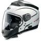 Metallic White/Black/Silver N44 Trilogy N-Com® Storm Helmet