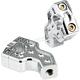 Chrome Dual Pullback Handlebar Risers - 03-866C