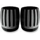 Gloss Black Powercoat Exhaust Tips For Rinehart 4 in. True Dual Mufflers - C1087-B