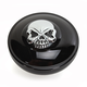 Gloss Black Non-Vented Screw-In Locking Skull Gas Cap - 0703-0691