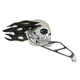 Black/Chrome Flaming Skull Mirrors - 47057