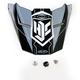 Black/Silver MC-5 FG-X Talon Helmet Visor - 0967-6012-05