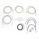Stainless Braided Handlebar Cable and Brake Line Kit for Use w/18 in. - 20 in. Ape Hangers (W/ABS) - LA-8052KT2-19