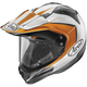 Orange/White/Black XD4 Flare Helmet