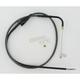 Black Pearl Designer Series Alternative Length Braided Idle-Cruise Cables for Custom  Handlebars - 44324