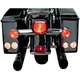 LED Saddlebag Marker/Signal Light Kit with Bright Polished Stainless Trim Rings and Amber Lights - 2040-0800