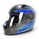 Silver/Blue/Black MC-2 R1000X Lithium Helmet