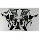 Sportbike Black/White Graphic Kit - 60306