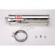 RS-3 Oval Race Bolt-On Muffler w/Polished Stainless Steel Muffler Sleeve - CB929SO