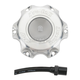 Silver Anodized Gas Cap - 727