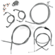 Throttle-by-Wire Handlebar Cable and Brake Line Kit for Use w/12 in. - 14 in. Ape Hangers w/ABS - LA-8050KT-13