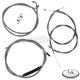 Stainless Braided Handlebar Cable and Brake Line Kit for Use w/OEM Handlebars - LA-8100KT-00