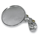 Clear Anodized Round Folding Bar End Mirror - 09302S