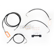 Black Vinyl Handlebar Cable and Brake Line Kit for Use w/15 in. - 17 in. Ape Hangers (w/o ABS) - LA-8012KT-16B