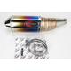 Oval Slip-On Muffler with Flame Titanium Muffler Sleeve - ESI102ATO