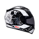 Black/White RS-1 Gear Head Helmet - Convertible To Snow
